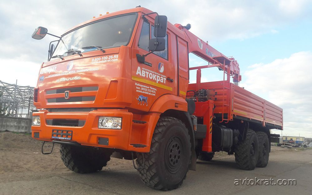 КАМАЗ-43118 Евро 5 бортовой c КМУ Канглим 1256G, 5 890 000 руб.