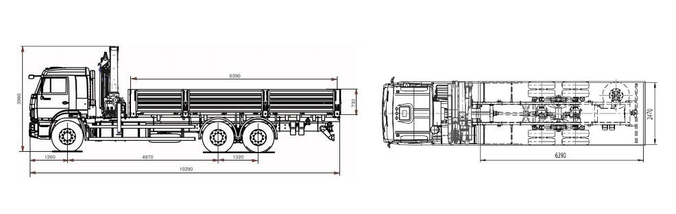 КАМАЗ-65117 (4х6) с