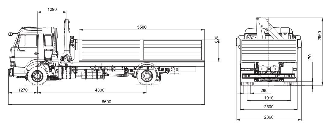 на шасси KAMAZ-4308 (4x2)
